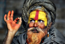 TOPSHOTS A Hindu Sadhu (holy man) poses for a photograph during the Maha Shivaratri festival at the Pashupatinath temple in Kathmandu on February 27, 2014. Hindus mark the Maha Shivratri festival by offering special prayers and fasting. Hundreds of sadhus have arrived in Pashupatinath to take part in the Maha Shivaratri festival. AFP PHOTO/Prakash MATHEMAPRAKASH MATHEMA/AFP/Getty Images